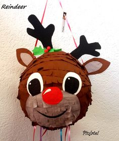Items similar to REINDEER pinata - Christmas gift, birthday gift, any party joy. for all ages with young spirit :) on Etsy Kids Crafts, Christmas Crafts For Kids, Christmas Holidays, Xmas, Reindeer Christmas, Christmas Gift Wrapping, Christmas Presents, Christmas Birthday, Birthday Gifts