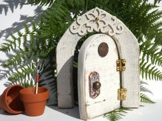 Wooden+Fairy+Door+Fairy+Doors+That+Open+Wood+by+BlackCrowCurios,+$37.00