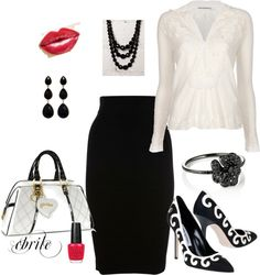 """""""Everyone needs a Black & White outfit!"""" by cbrile ❤ liked on Polyvore"""