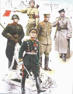 Picture gallery of uniform of the Red Army