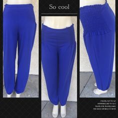 Side elastic harem pants Gorgeous pants with side elastic as shown . Very comfortable with extra support at bottom . Measurements coming soon . Pants Track Pants & Joggers