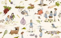 The Desktop Wallpaper Project featuring Jensine Eckwall-some of these prints are just so charming!