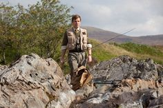 Ewan McGregor in 2012 film Salmon Fishing in the Yemen Ewan Mcgregor, Highland Homes, Fishing Techniques, Salmon Fishing, Bradley Mountain, Military Jacket, Eye Candy, Movies, Theatre