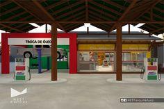 1|2 AUTO POSTO NOVA ITÁLIA - Estudo preliminar de Projeto Arquitetônico de reforma para loja de conveniência em Nova Itália, Urussanga - SC