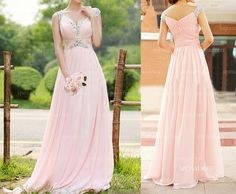 Pink prom dresses long prom dresses cheap prom by sposadress, $149.00