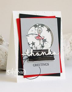 Sparkly Seasons Photopolymer Bundle, Greetings Thinlits Dies,  Shakercard -Inge Groot-