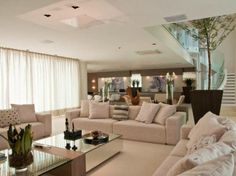 Decor Salteado - Blog de Decoração   Design   Arquitetura   Paisagismo: 40 Salas de Estar Decoradas + Dicas e Tendências!