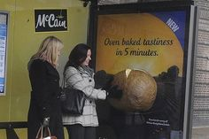 Potato-scented bus stop adverts