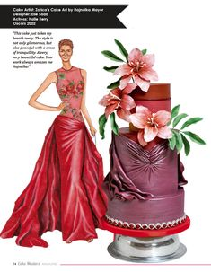 Cake Masters Magazine red carpet cakes Halle Berry Inspired Cake By Zorica's Cake Art by Hajnalka Mayor