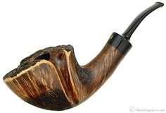 New Tobacco Pipes: Winslow Crown Partially Rusticated Bent Dublin (Viking) at Smokingpipes.com