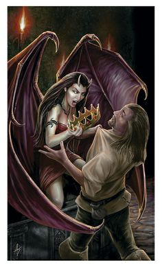 Corrupter at work Dungeons & Dragons © Wizards of the Coast ©Anne Stokes Anne Stokes, Dracula, Female Vampire, Gothic Vampire, Vampire Art, Dark Fantasy Art, Fantasy Artwork, Anime Fantasy, Female Demons
