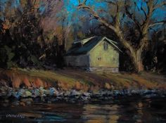 "Daily Paintworks - ""Autumn Reflection"" - Original Fine Art for Sale - © Joseph Loganbill"