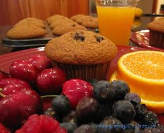 """HONEY RAISIN FLAXSEED MUFFINS These """"bran"""" muffins are moist, soft and Gluten-Free!  So light, you won't believe they are high in fiber!  YUM!"""