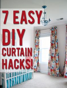 7 easy DIY curtain hacks-View Along the Way Home Projects, Sewing Projects, Sewing Ideas, Sewing Patterns, Diy Curtains, Sewing Curtains, Homemade Curtains, Luxury Curtains, Green Curtains
