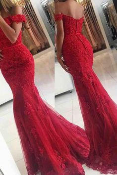 Red lace prom dress - Lace Mermaid Off Shoulder Red Prom Dresses Charming Evening Dress Sexy prom dress – Red lace prom dress Red Lace Prom Dress, Mermaid Prom Dresses Lace, Prom Dresses 2018, Cheap Prom Dresses, Prom Party Dresses, Sexy Dresses, Lace Mermaid, Prom Gowns, Dress Prom