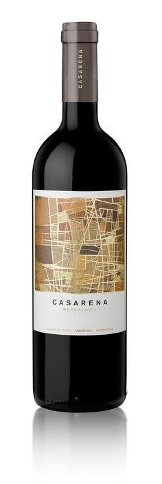 Diseño Etiqueta de Vino / Wine label Design  BODEGA CASARENA