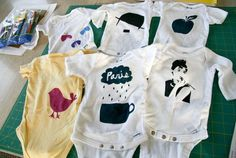 painting onsies tutorial DIY #acollectionofpassions