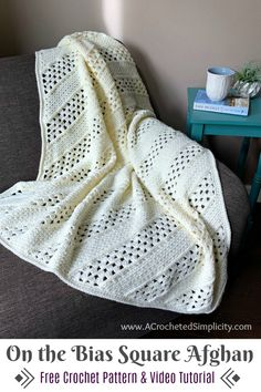 Crochet Afghans, Crochet Throw Pattern, C2c Crochet Blanket, Crochet Blankets, Crochet Cushions, Crochet Blocks, Crochet Pillow, Throw Blankets, Crochet Granny