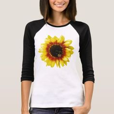 sunflower Solar Flash Hybrid Flower Womens T-shirt - tap to personalize and get yours