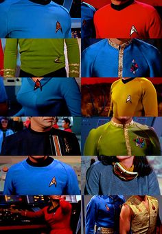 iconic uniforms in star trek tos