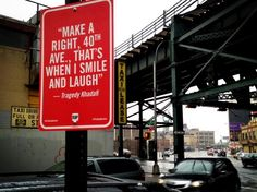 Artist Turns Rap Lyrics Into NYC Site-Specific Street Signs By John Yong, 27 Mar 2013 COMMENT SHARE Share on facebook Share on twitter Share on pinterest_share  199    In his on-going street art project called 'Rap Quotes', artist Jay Shells turns selected rap lyrics into NYC site-specific street signs.