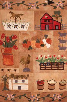 Country Memories ~ Block of the Month   Designer Kaye Moore
