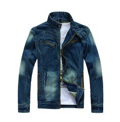 Jaket Jeans, Denim Jacket Men, Blue Jean Jacket, Denim Coat, Sweater Jacket, Men's Jacket, Swag Outfits Men, Stylish Mens Outfits, Casual Look For Men
