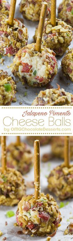 Jalapeno Pimento Cheese Balls are quick and easy, last minute appetizers perfect for New Year's Eve or fun and festive Super Bowl party.