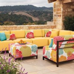 Greenwich Outdoor Modular Seating - These colors just pop!