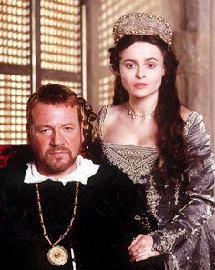 Ray Winstone as Henry VIII & Helen Bonham Carter as Anne Boleyn in the mini series of in Henry VIII