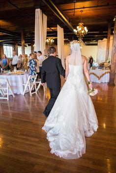 Elegant train on this wedding dress.(http://www.7centerpieces.com/parisian-themed-waco-wedding-shelly-taylor/)   Shelly Taylor Wedding Photography (http://www.shellytaylorphotography.net/)