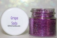 "Glitter Lambs ""Grape Soda"" Makeup Cosmetic Glitter Body Glitter Nail Glitter Face Glitter Hair Glitter Roots Purple Holo Silver"