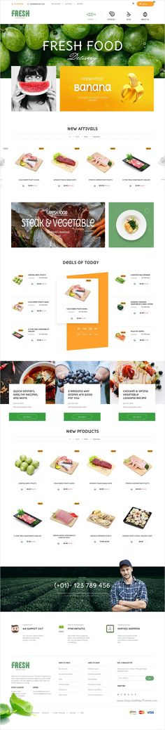 Fresh food is beautifully design 3 in 1 @Shopify theme for fresh #vegetable shop, #organic food store or dairy farms website download now➩ https://themeforest.net/item/fresh-food-fruit-store-shopify-theme/17386559?ref=Datasata