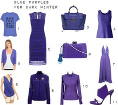 Blue Purples for Dark Winter