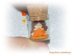 Mini fairy in a bottle -polymer clay-