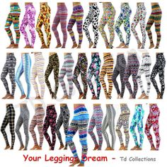This leggings is stretchy very well. When you wear this leggings, you will feel the comfort and very soft fabric. Print Leggings, Tight Leggings, Pattern Print, Print Patterns, Good Stretches, Color Patterns, Soft Fabrics, Tights, Womens Fashion