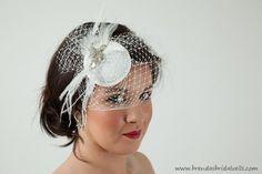 Stunning Bridal Hat Swarovski Rhinestone by brendasbridalveils
