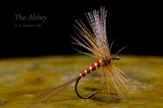 The Abbey - a traditional wet fly tied dry