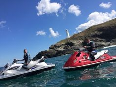 The ultimate aquatic adventure, soak in the sights of Newquay and Lusty Bay from the seat of a mighty Yamaha Waverunner. Cornwall Coast, Newquay Cornwall, Mini Jet Ski, Yamaha Waverunner, Water Sports Activities, Ski Touring, Water Crafts, United Kingdom, Safari