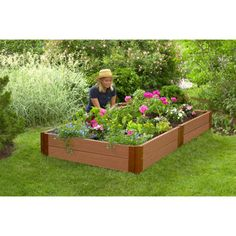 White Vinyl Raised Garden Bed 2 pack Costco 18999 Gardening