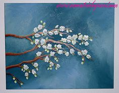 Branches on canvas tutorial