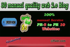 The best web 2.o ever http://www.fiverr.com/wespiderteam/do-manually-30-web-2-  blogs-pr-5-to-9-with-pictures-and-videos