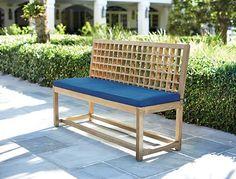 Martha Stewart Living™ Deer Isle Solid Wood Outdoor Dining Bench
