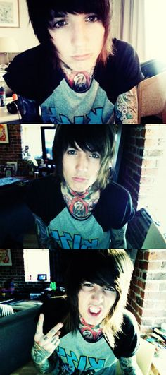 Bring Me The Horizon (Oliver Sykes) he's such a cutie!!