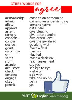 Other words for Agree