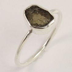 Natural BROWN TOURMALINE Gemstone 925 Sterling Silver Ring Size US 6.75 Exporter #Unbranded