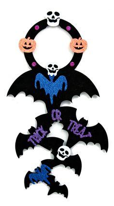 Nicole™ Crafts Bat Door Hanger #kids #craft #halloween