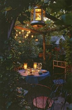 Love this. Can build some kind of arbor like this over the dining patio, extend dining out and hang twinkling magical lights above. Drape with roses and maybe more wisteria