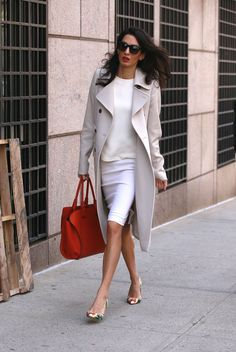 Presenting: the perfect trench coat as worn by Amal Clooney
