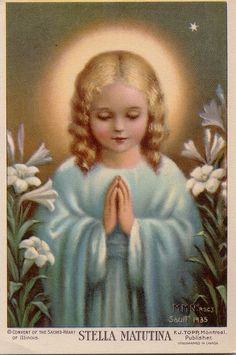 Nativity of the Blessed Virgin Mary. Our Lady as a child. Religious Pictures, Religious Icons, Religious Art, Holy Mary, Blessed Mother Mary, Blessed Virgin Mary, Immaculée Conception, Vintage Holy Cards, Queen Of Heaven